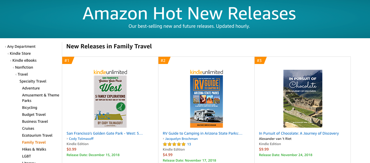 730fb8414c12e Codyo.com | My book is #1 in hot new releases for family travel on ...